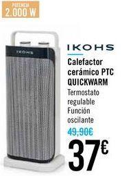 Oferta de Calefactor cerámico PTC QUICKWARM IKOHS  por 37€