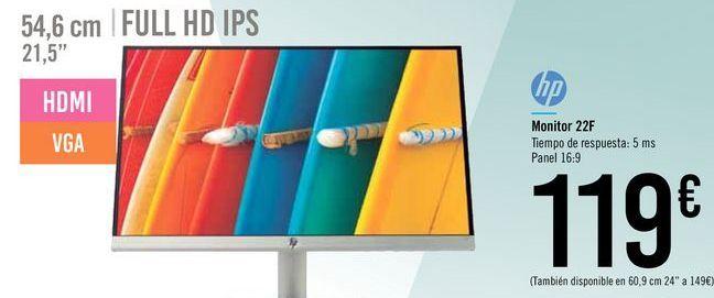 Oferta de Monitor 22F HP por 119€