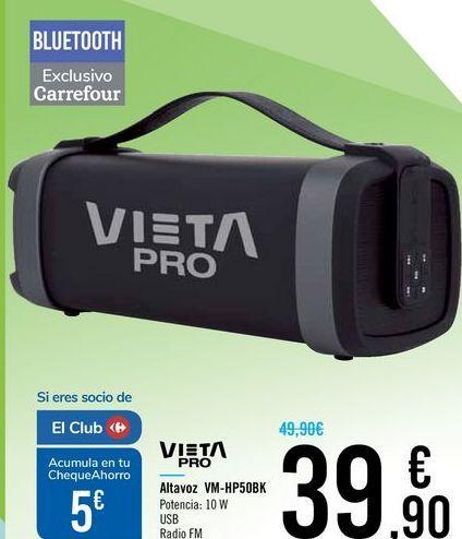 Oferta de Altavoz VM-HP50BK VIETA PRO por 39,9€