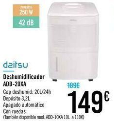 Oferta de Deshumificador ADD-20XA Daitsu  por 149€