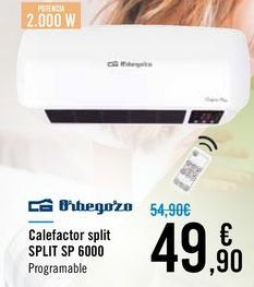 Oferta de Calefactor split SPLIT SP 6000 Orbegozo por 49,9€
