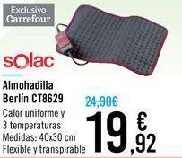 Oferta de Almohadilla Berlín CT8629 Solac por 19,92€