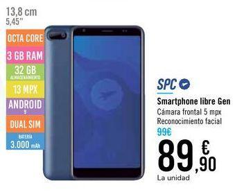 Oferta de Smartphone libre Gan SPC por 89,9€