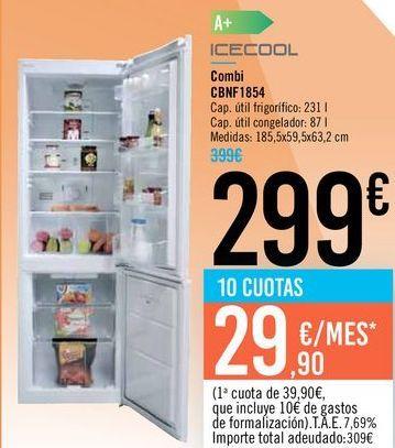 Oferta de Combi CBNF1854 ICECOOL por 299€