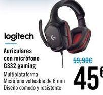 Oferta de Auriculares con micrófono G332 Gaming  por 45€