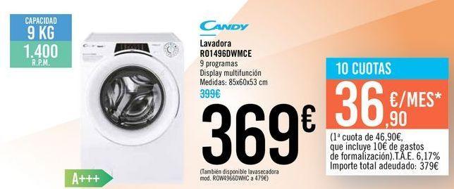 Oferta de Lavadora R014960WMCE CANDY por 369€