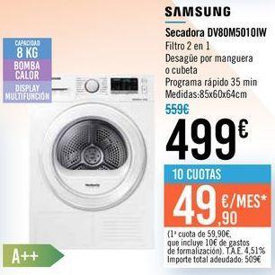 Oferta de Secadora DV80M5010IW SAMSUNG por 499€