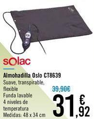 Oferta de Almohadilla Oslo CT8639 Solac  por 31,92€