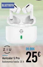 Oferta de Auricular S Pro ZIU por 25€