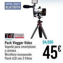 Oferta de Pack Vlogger Video TnB por 45€