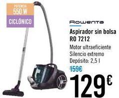 Oferta de Aspirador sin bolsa Rowenta RO 7212 por 129€