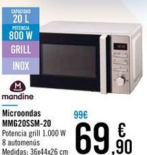 Oferta de Microondas MMG20SSM-20 Mandine  por 69,9€