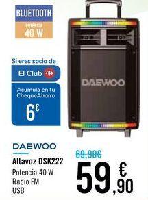 Oferta de Altavoz DSK222 DAEWOO por 59,9€