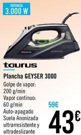 Oferta de Plancha GEYSER Taurus  por 43€