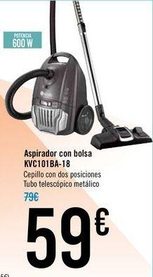 Oferta de Aspirador con bolsa KVC101BA-18 por 59€