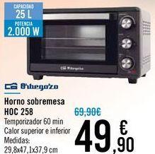 Oferta de Hornos sobremesa HOC 258 Orbegozo por 49,9€
