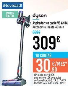Oferta de Aspirador sin cable V8 ANIMAL Dyson  por 309€