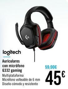 Oferta de Auriculares con micrófono G332 gaming logitech por 45€
