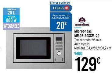 Oferta de Microondas MMOBI20SSM-20 Mandine por 129€