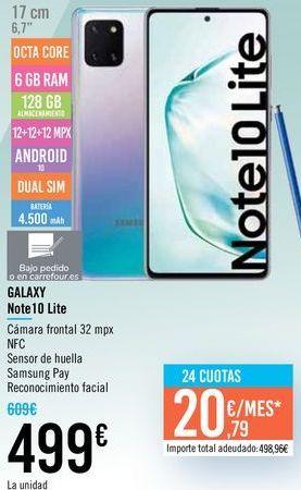 Oferta de GALAXY Note 10 Lite por 499€