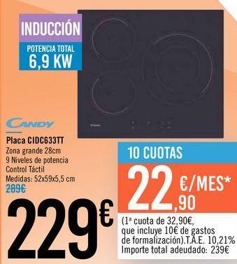 Oferta de Placa CIDC633TT Candy  por 299€