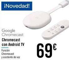 Oferta de Chromecast con Android TV  por 69€