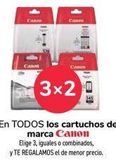 Oferta de En TODOS los cartuchos de la marca Canon por