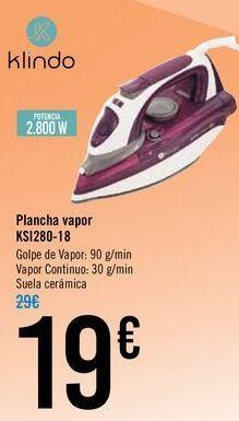 Oferta de Plancha vapor KS1280-18  por 19€