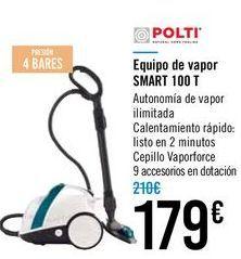 Oferta de Equipo de vapor SMART 100 T Polti  por 179€