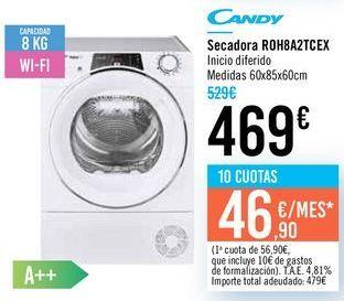 Oferta de Secadora R0H8A2TCEX Candy  por 469€