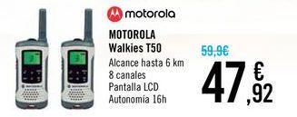 Oferta de MOTOROLA Walkies T50  por 47,92€