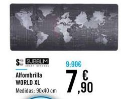 Oferta de Alfombrilla WORLD XL por 7,9€