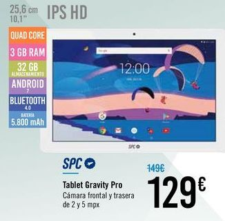 Oferta de Tablet Gravity Pro SPC por 129€