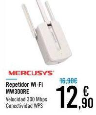 Oferta de Repetidor Wi-Fi MW300RE MERCUSYS por 12,9€