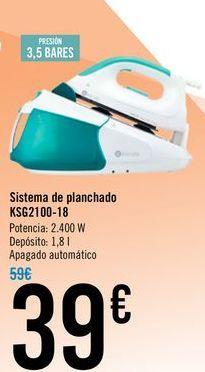 Oferta de Sistema de planchado KSG210-18  por 39€
