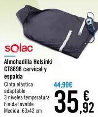 Oferta de Almohadilla Helsinki CT8696 cervical y espalda Solac  por 35,92€