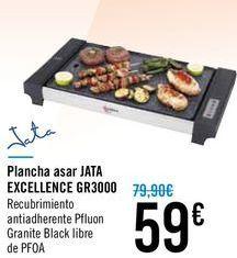 Oferta de Plancha asar JATA EXCELLENCE GR3000 por 59€