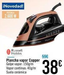 Oferta de Plancha vapor Copper Russell Hobbs por 38€
