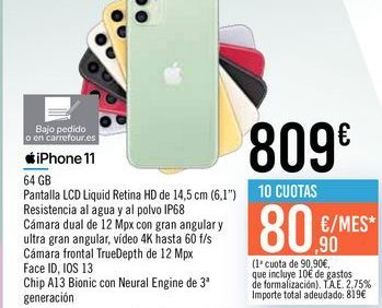 Oferta de IPhone 11 por 809€