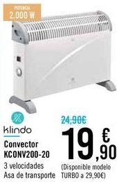 Oferta de Convector KC0NV200-20 Klindo  por 19,9€