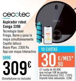 Oferta de Aspirador robot Conga 3390 Cecotec  por 309€