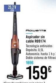 Oferta de Aspirador sin cables R09171 ROWENTA por 159€