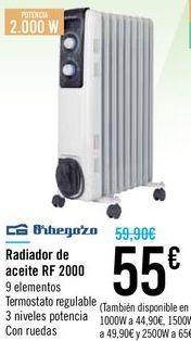 Oferta de Radiador de aceite RD 2000 Orbegozo  por 55€