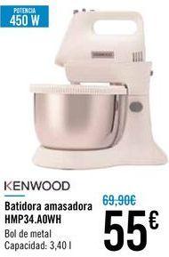 Oferta de Batidora amasadora HMP24.A0WH Kenwood por 55€