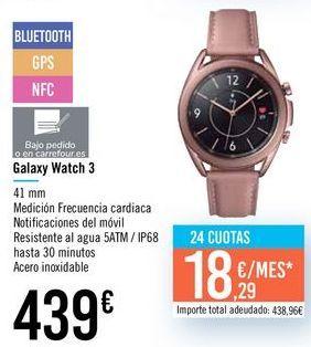 Oferta de Galaxy Watch 3 por 439€