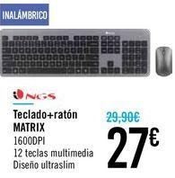 Oferta de Teclado + ratón MATRIX por 27€