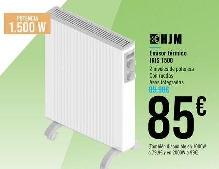 Oferta de Emisor térmico IRIS 1500 HJM por 85€