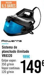 Oferta de Sistema de planchado ilimitado VR8320 Rowenta  por 149€