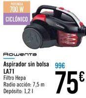 Oferta de Aspirador sin bolsa LA71 Rowenta  por 75€