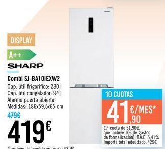Oferta de Combi SJ-BA10IEXW2 SHARP por 419€